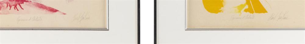 PAUL JENKINS, New York/Kansas/Missouri/France, 1923-2012, Three colorful abstracts, circa 1965., Serigraphs on paper, 17