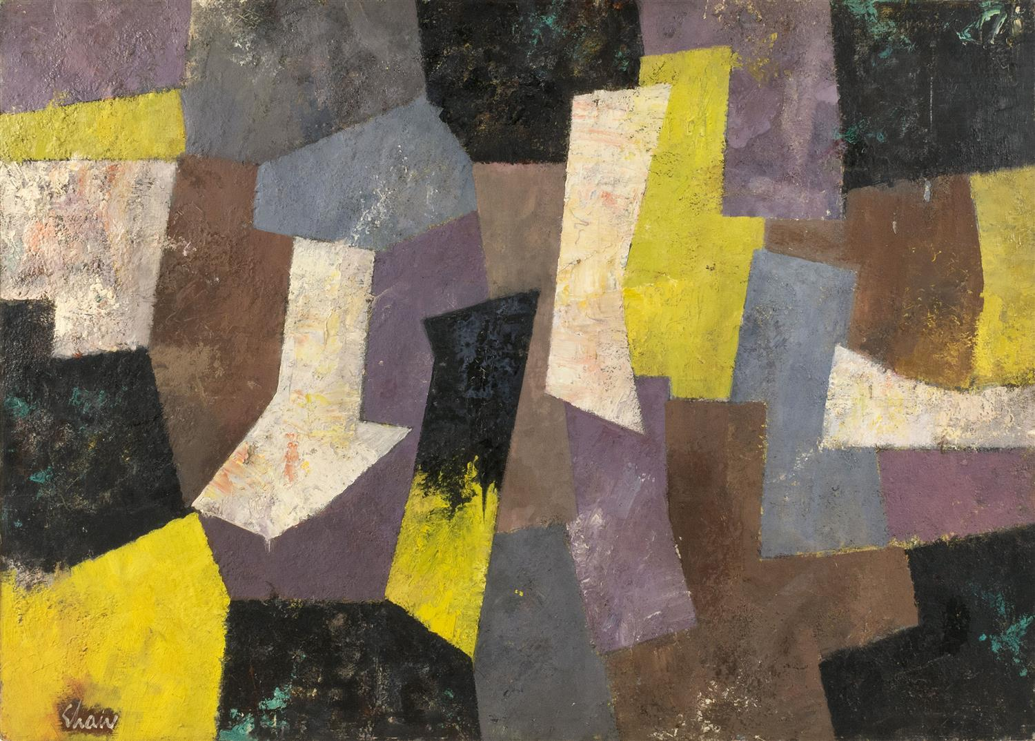 """CHARLES GREEN SHAW, New York, 1892-1974, """"Harmony in Broken Colors""""., Oil on canvas, 29"""" x 41"""". Framed 30"""" x 42""""."""