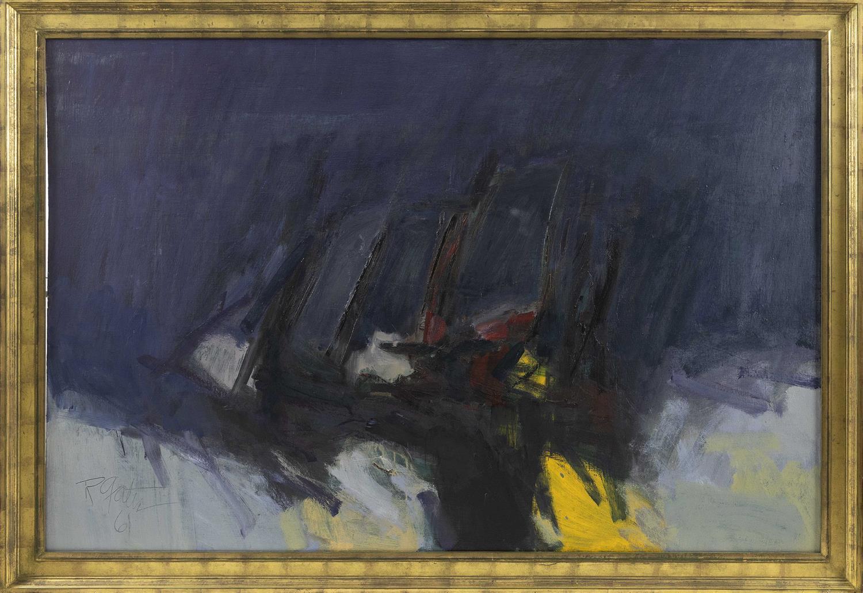 "ROBERT FRANKLIN GATES, Washington, D.C./Virginia, 1906-1982, ""Flying Dutchman""., Oil on canvas, 40"" x 60"". Framed 46"" x 60""."