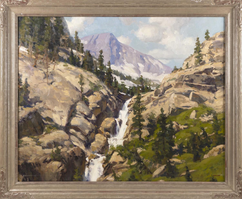 """GREGORY STEWART HULL, Arizona, b. 1950, """"Sierra Summer""""., Oil on canvas, 40"""" x 50"""". Framed 49"""" x 59""""."""