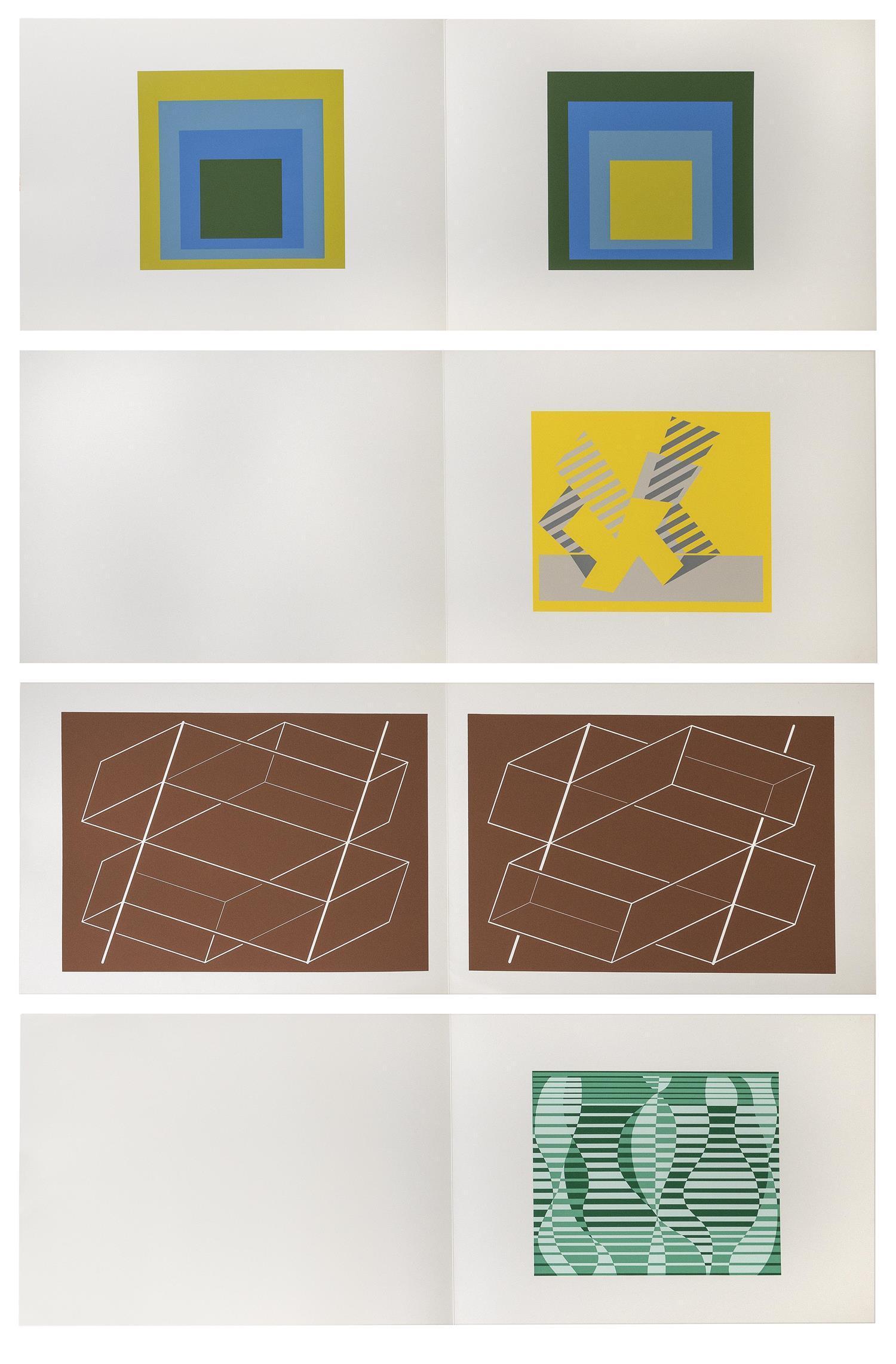 "JOSEF ALBERS, Germany/Connecticut/North Carolina, 1888-1976, ""Formulation : Articulation"" proof, circa 1972., Silkscreens on folded..."