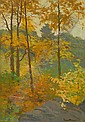 CHARLES CHASE EMERSON, American, 1874-1922., Fall landscape., Oil on board, 14