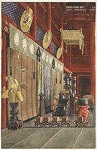MASANO KAWAKUBO Shrine interior. Signed lower left