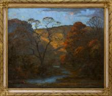 """GEORGE VICTOR GRINNELL, Connecticut, 1878-1946, """"Autumn Glory"""",, Oil on canvas, 29"""" x 35"""". Framed 36"""" x 41""""."""