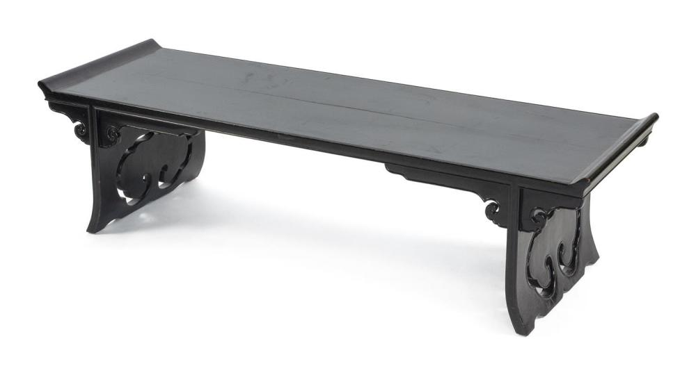 Fine Chinese Low Table In Black Lacquer Finish With Upswept Ends Pdpeps Interior Chair Design Pdpepsorg