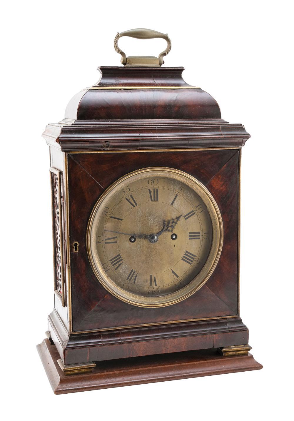 "ENGLISH BRACKET CLOCK BY JOHN ELLICOTT London, 18th Century Height 19.5"". Width 11.5"". Depth 8""."