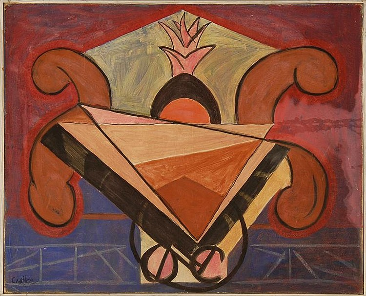 OLIVER NEWBERRY CHAFFEE, JR., American, 1881-1944, Abstract still life., Oil on canvas, 25¾