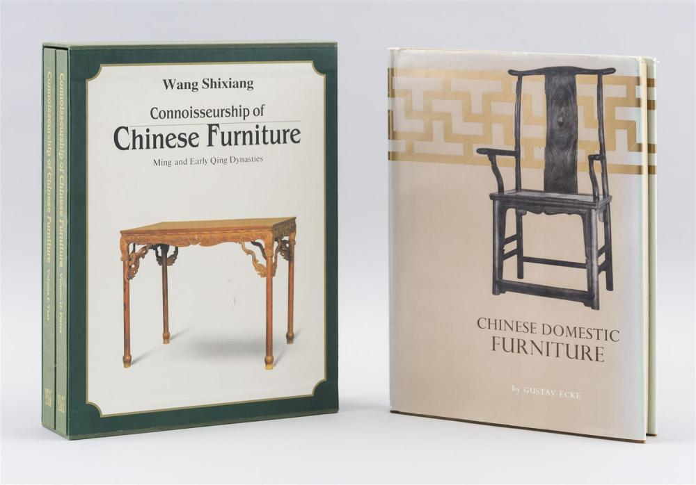 THREE TITLES RELATING TO CHINESE FURNITURE Connoisseurship of Chinese Furniture by Wang, Vols. 1 and 2, and Chinese Domestic Furnitu...