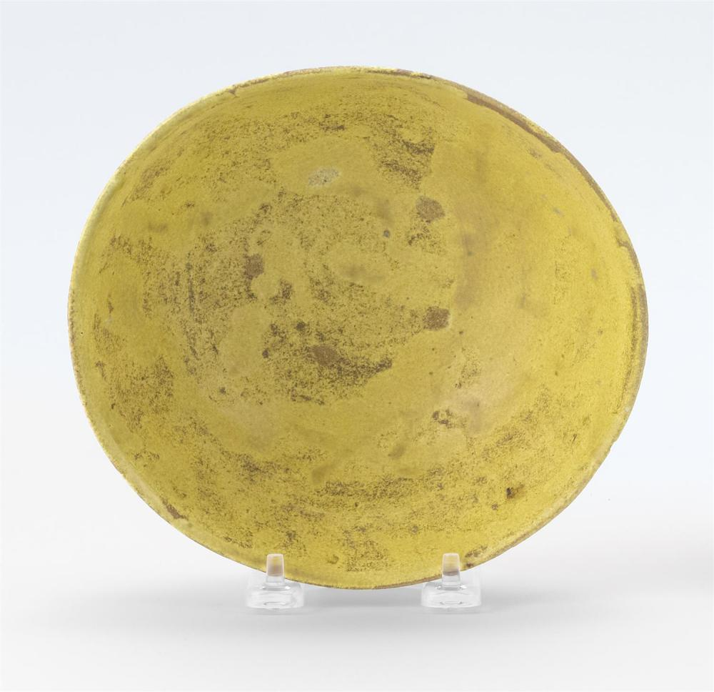"Lot 1183: KOREAN IRABO WARE TEA BOWL In hemisphere form, with cream glaze on a light brown body. Diameter 7""."