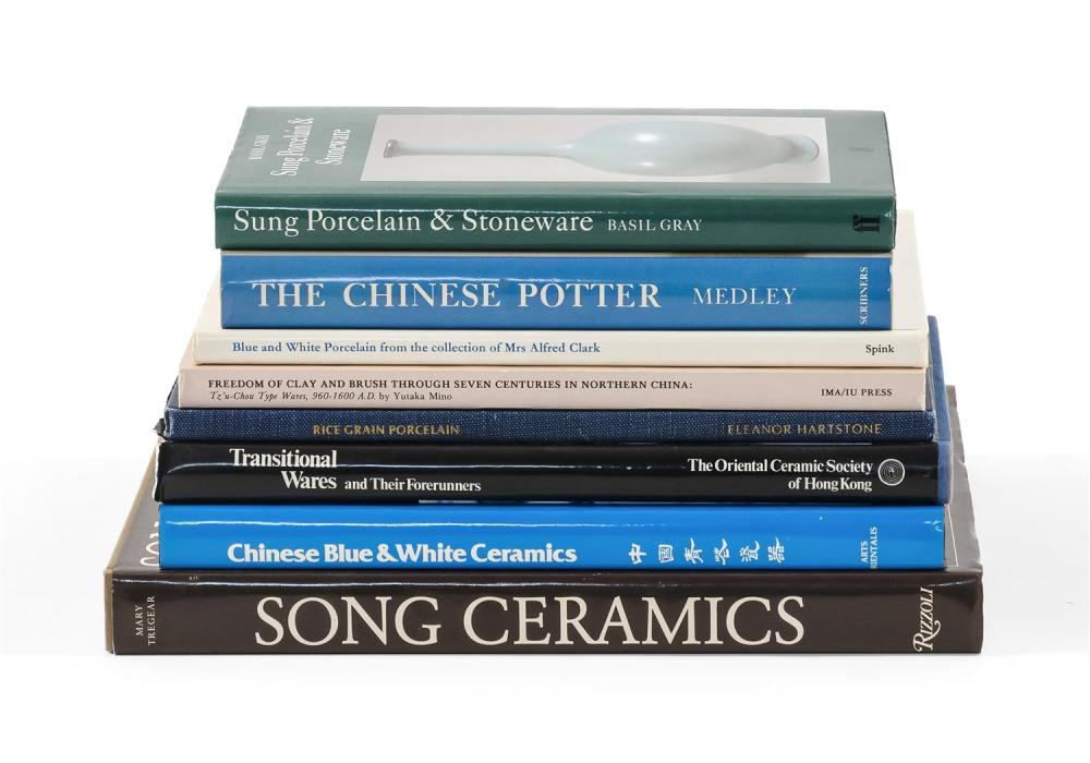Lot 1191: EIGHT TITLES RELATING TO CHINESE CERAMICS 1) Song Ceramics by Tregear. 2) Song Porcelain & Stoneware by Gray. 3) Rice Grain Porcelai...