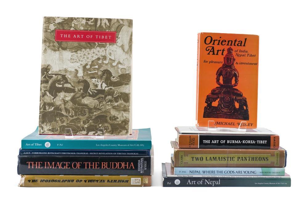 Lot 1193: TWELVE TITLES RELATING TO BUDDHIST ART 1) Two Lamaistic Pantheons by Walter Eugene Clark. 2) The Art of Burma, Korea, Tibet by Alexa...
