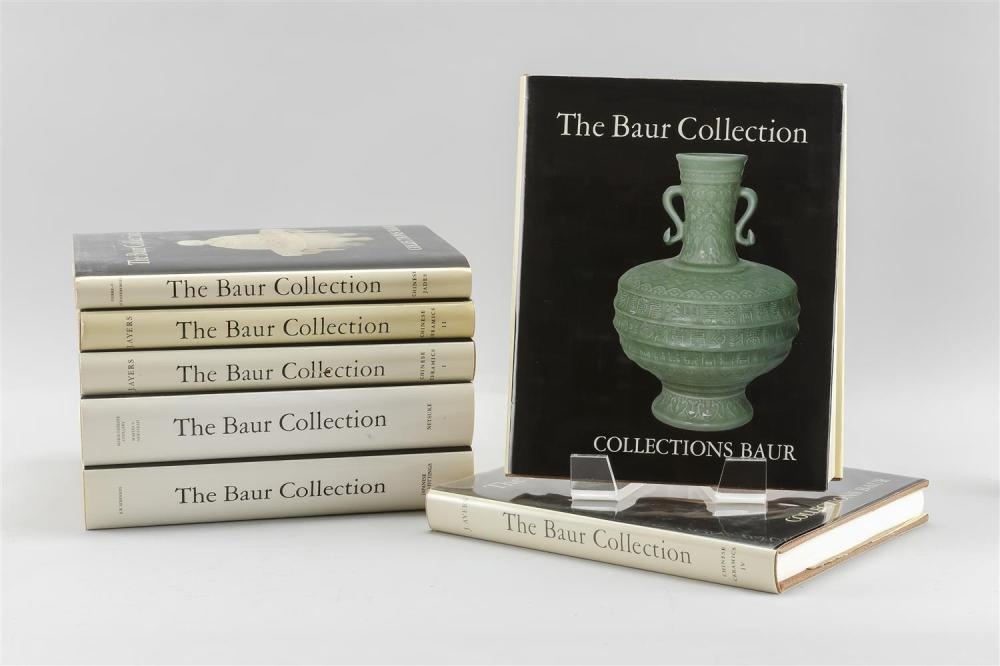 Lot 1194: SEVEN VOLUMES ON THE BAUR COLLECTION 1-4) Chinese Ceramics. Vols. 1-4. 5) Chinese Jades. 6) Netsuke. 7) Japanese Sword Fittings.