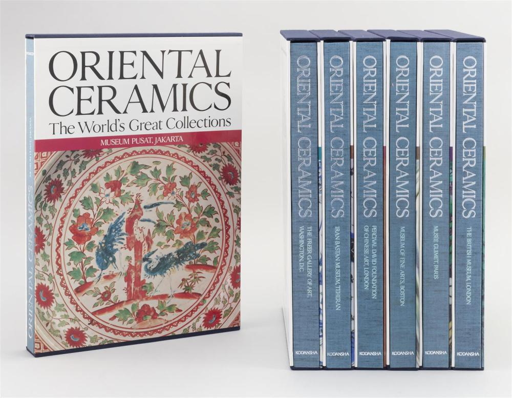 Lot 1197: ELEVEN VOLUMES RELATING TO ORIENTAL CERAMICS Oriental Ceramics: The World's Great Collections. Published by Kodansha, 1982. With sli..