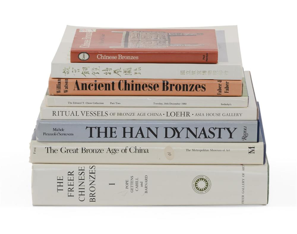 Lot 1198: EIGHT TITLES PERTAINING TO BRONZE 1) Ritual Vessels of Bronze Age China by Loehr. 2) Ancient Chinese Bronzes by Watson. 3) The Edw...