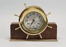SETH THOMAS SHIP'S BELL-STYLE DESK CLOCK. As is.