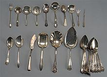 TWENTY-EIGHT PIECES OF STERLING SILVER FLATWARE by various makers. Includes thirteen spoons by International Silver Co. in the