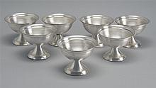 SEVEN REED & BARTON SILVER-SOLDERED SORBETS marked