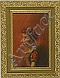 FRAMED PAINTING: LOUIS ANTHONY BURNETT (American, 1907-1999). Portrait of a young woman. Signed lower left