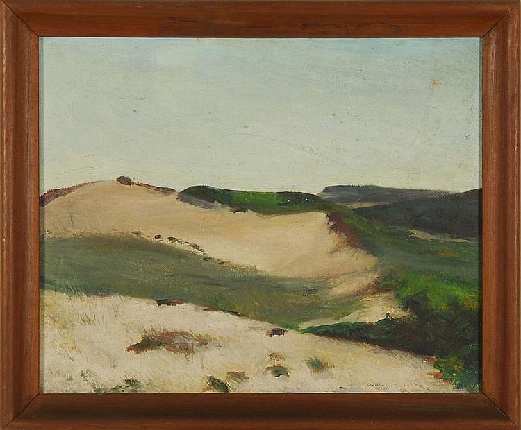 FRAMED PAINTING: GORDON FRANKLIN PEERS (American, 1909-1988). Dunes, possibly Wellfleet, Massachusetts. Signed lower right