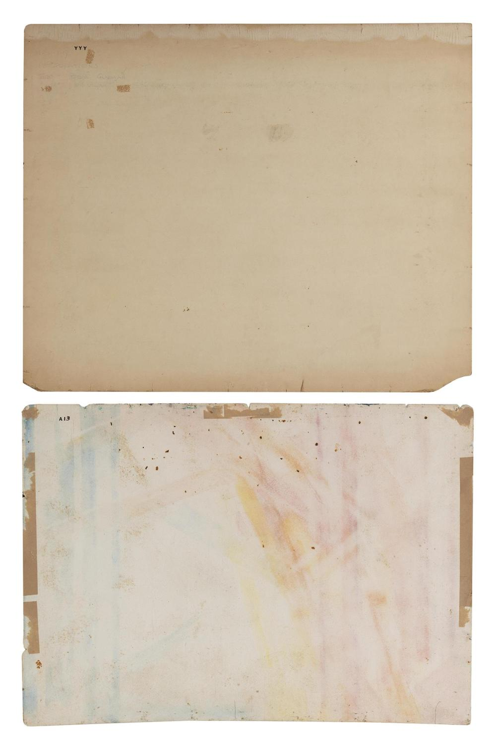 JESSIE BONE CHARMAN, New York, 1895-1986, Two abstracts., Watercolors on paper, 22