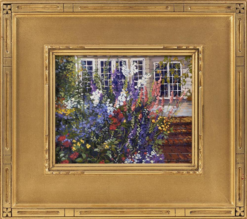 "JOHN POWELL, America, Contemporary, ""Brick Steps""., Oil on canvas. Framed."