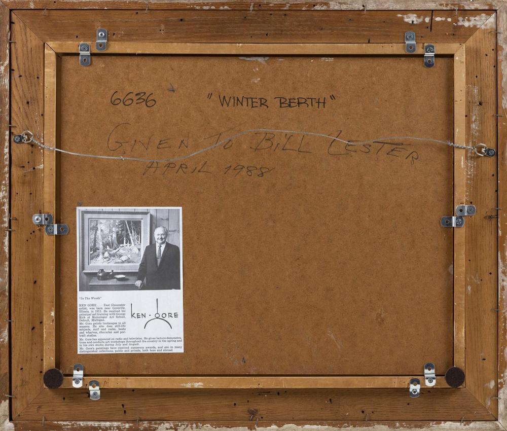 KEN GORE, Massachusetts, 1911-1990,
