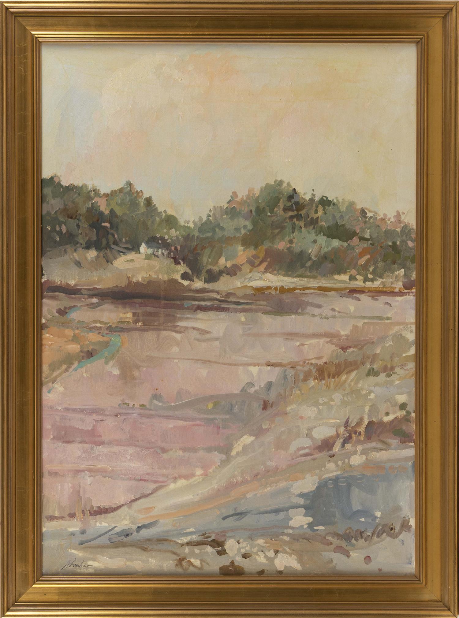 "DAVID LAASKO, America, Contemporary, Pastoral landscape., Oil on canvas, 34"" x 24"". Framed 39"" x 29""."