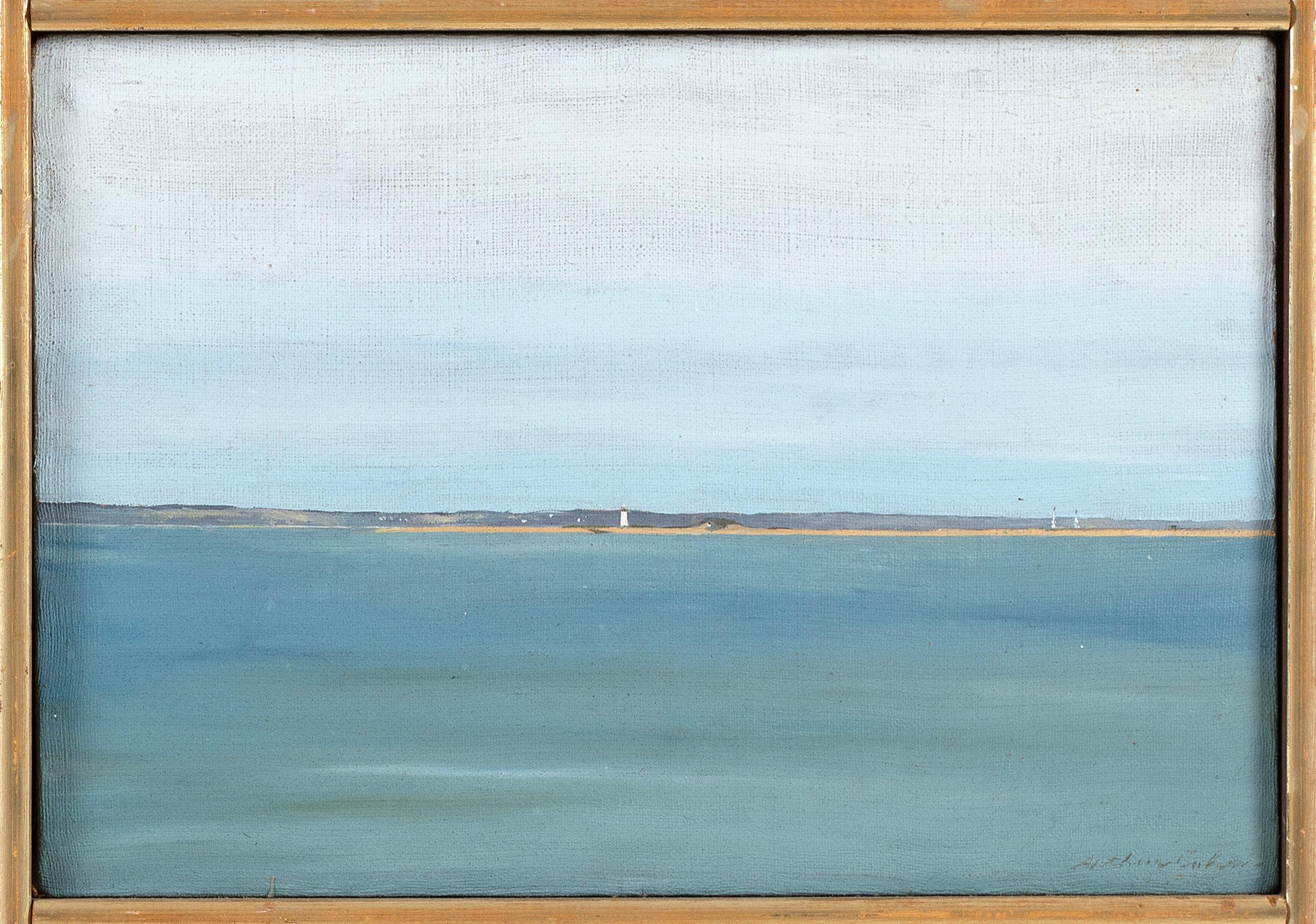 "ARTHUR MORRIS COHEN (New York, 1928-2012), ""Long Point""., Oil on canvas, 8"" x 12"". Framed 8.5"" x 12.5""."