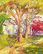 HILDA NEILY, American, b. 1947, Autumnal landscape., Oil on masonite, 20