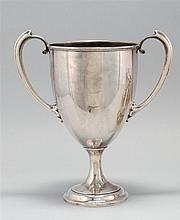 GORHAM MFG. CO. STERLING SILVER TWO-HANDLED TROPHY Inscribed