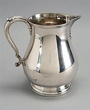 GORHAM MFG. CO. STERLING SILVER WATER PITCHER In baluster form with applied handle and circular foot. Height 7½