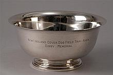 MANCHESTER SILVER CO. STERLING SILVER PAUL REVERE-STYLE BOWL Inscribed