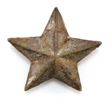 CARVED AND PAINTED WOODEN STAR 13