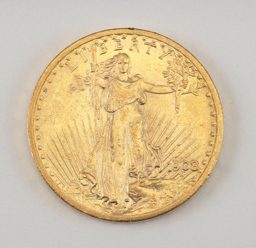 1908 SAINT-GAUDENS TWENTY-DOLLAR GOLD PIECE