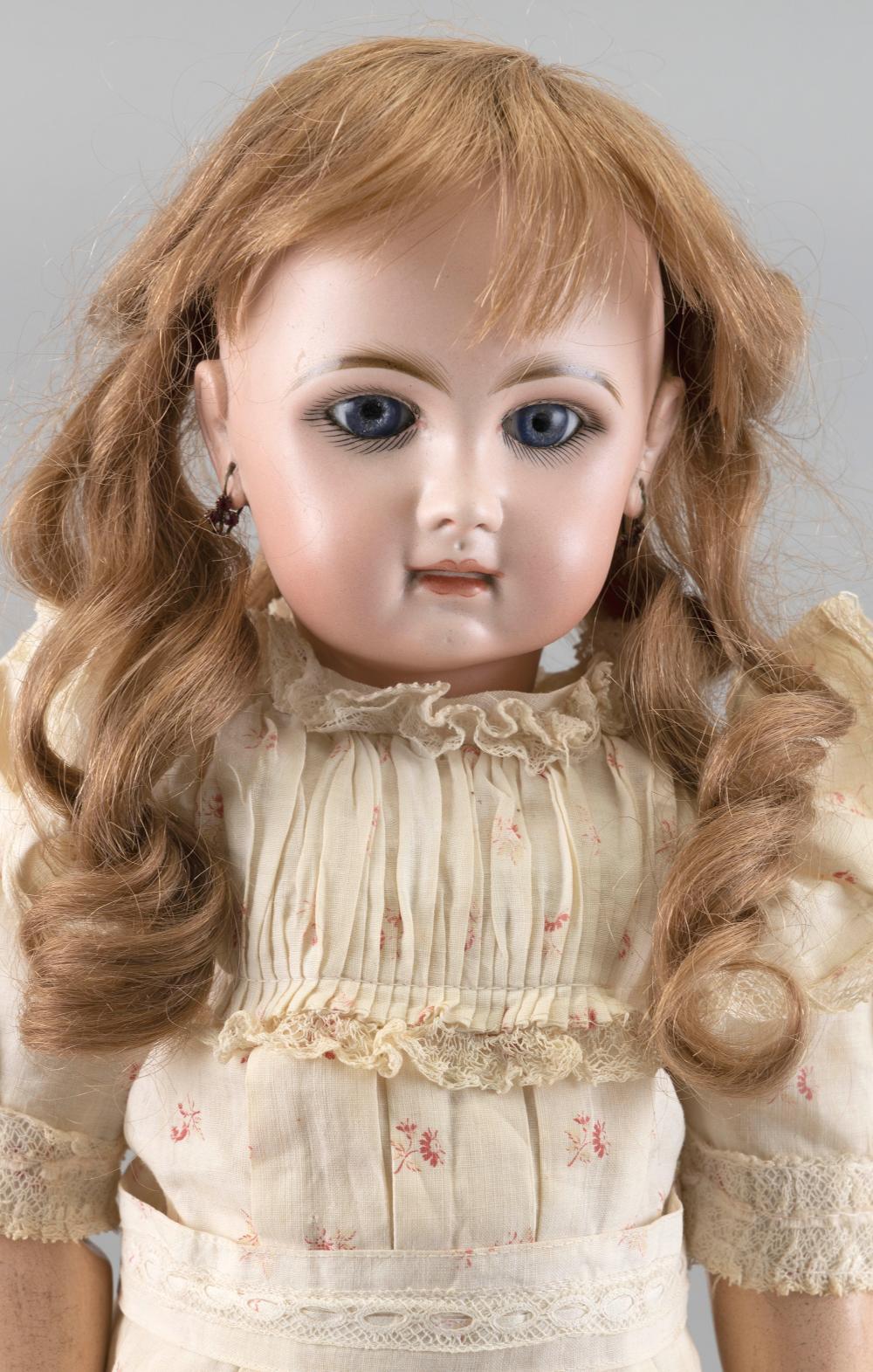 FRENCH JUMEAU BISQUE-HEAD DOLL Circa 1890 Height 22