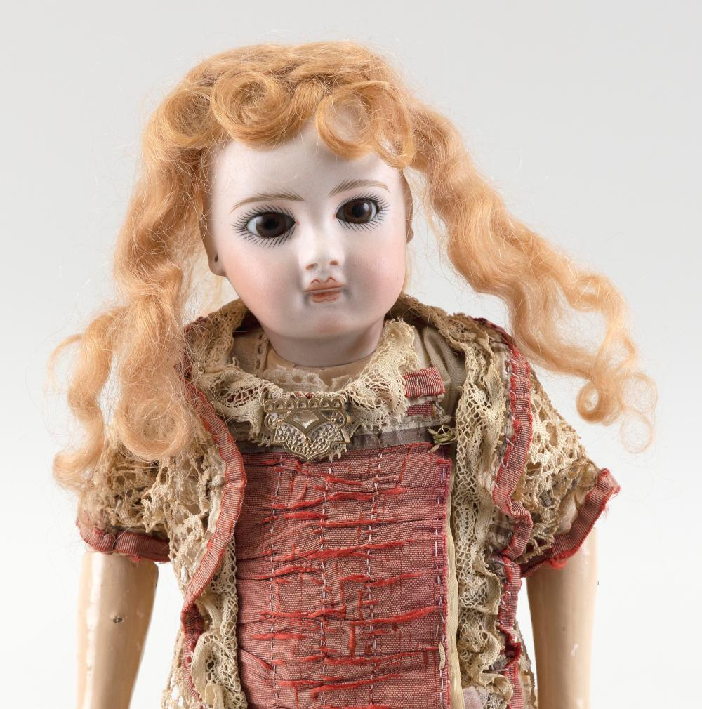 FRENCH BISQUE-HEAD DOLL Circa 1890 Height 10