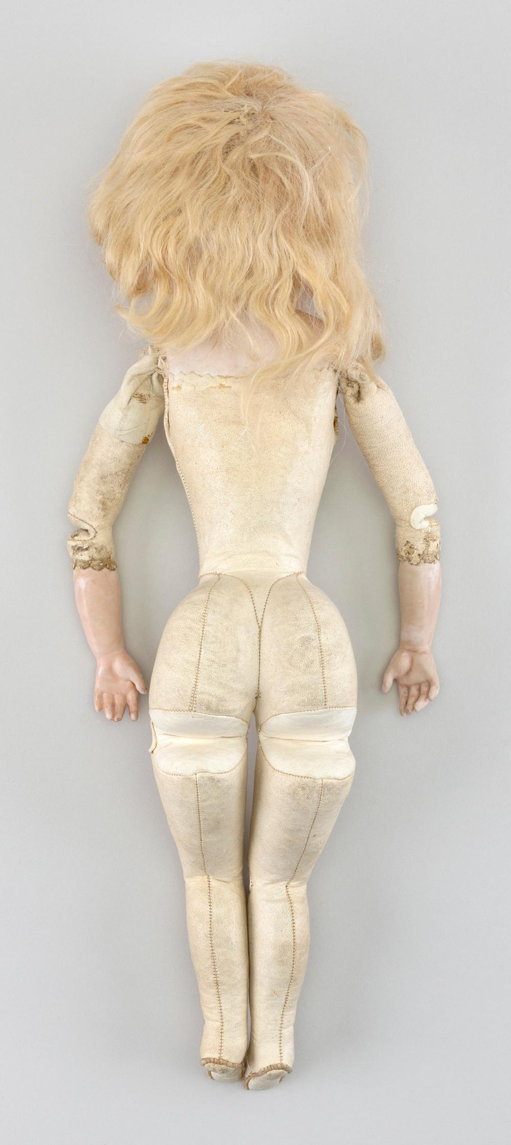 GERMAN BISQUE-HEAD DOLL Circa 1890 Height 16