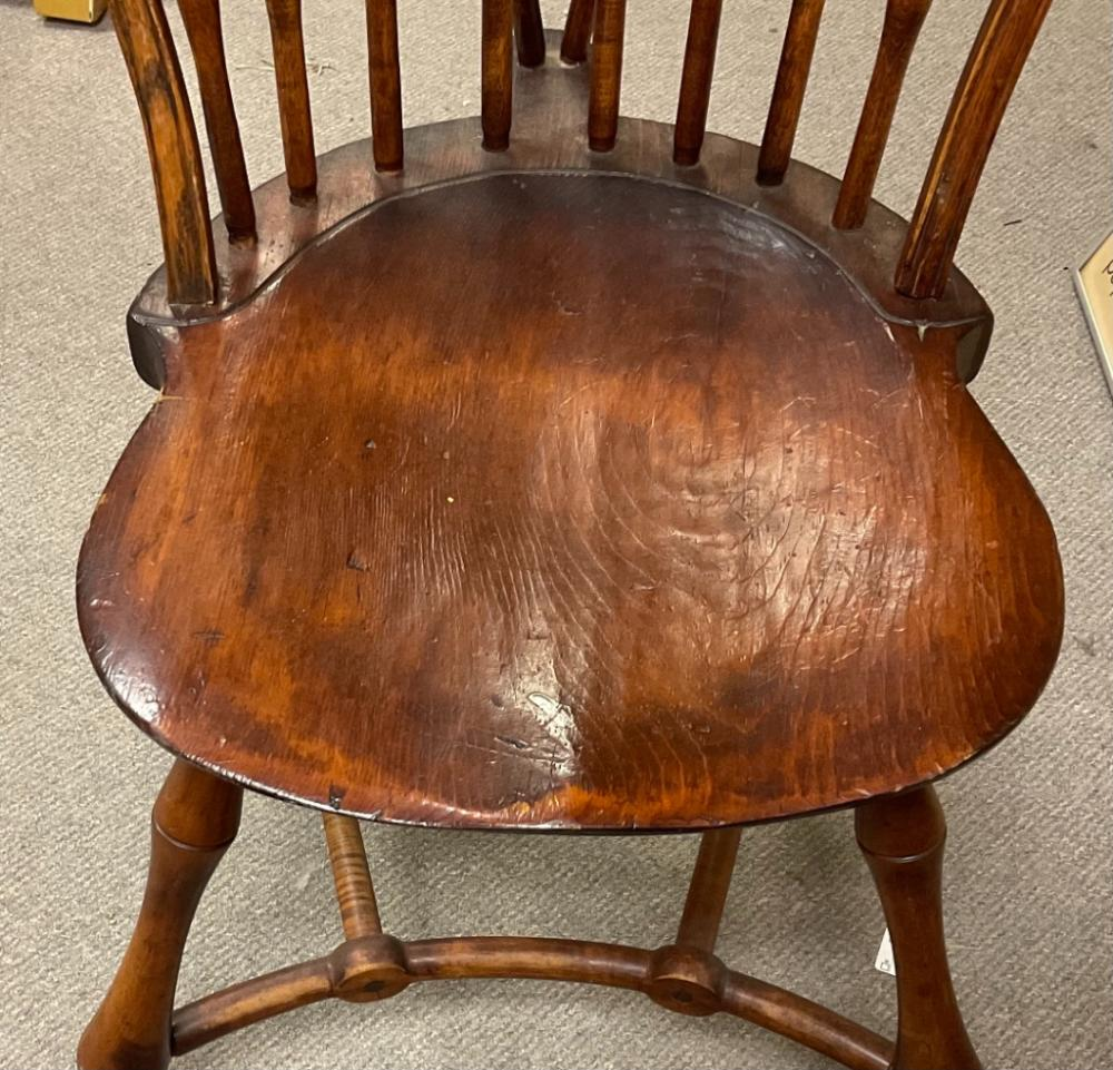 """TWO WALLACE NUTTING BOWBACK WINDSOR SIDE CHAIRS Mid-20th Century Height 42.5"""". Width 21.25"""". Seat height 18""""."""