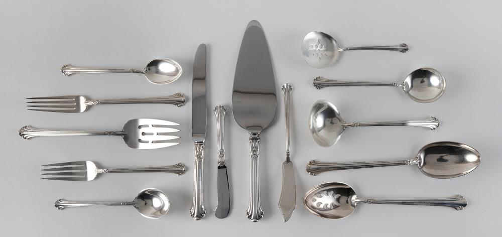 """TOWLE """"SILVER PLUMES"""" STERLING SILVER FLATWARE SERVICE Approx. 73.7 total troy oz. weighable"""