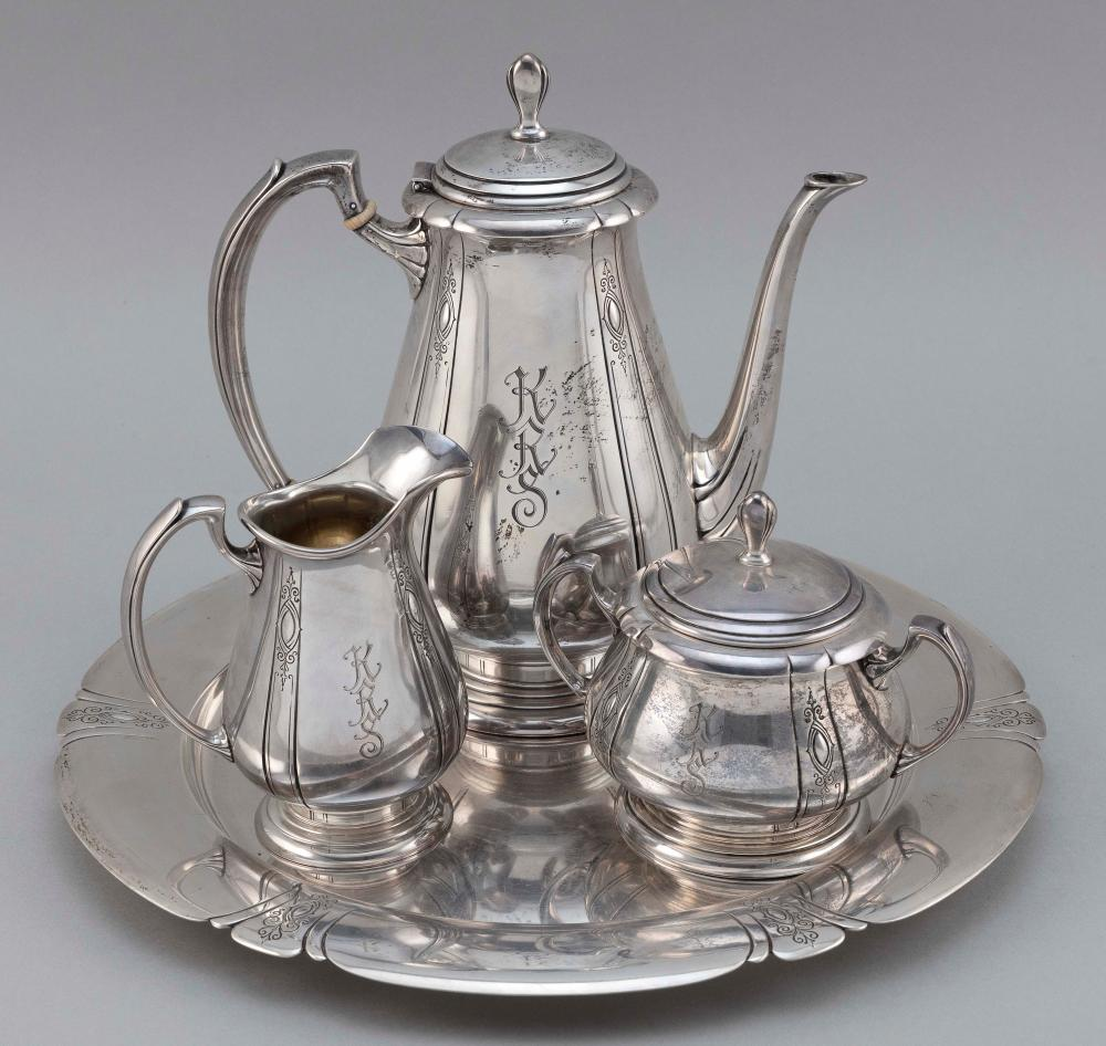 """TOWLE """"LADY DIANA"""" STERLING SILVER FOUR-PIECE TEA SERVICE Approx. 83.6 troy oz."""