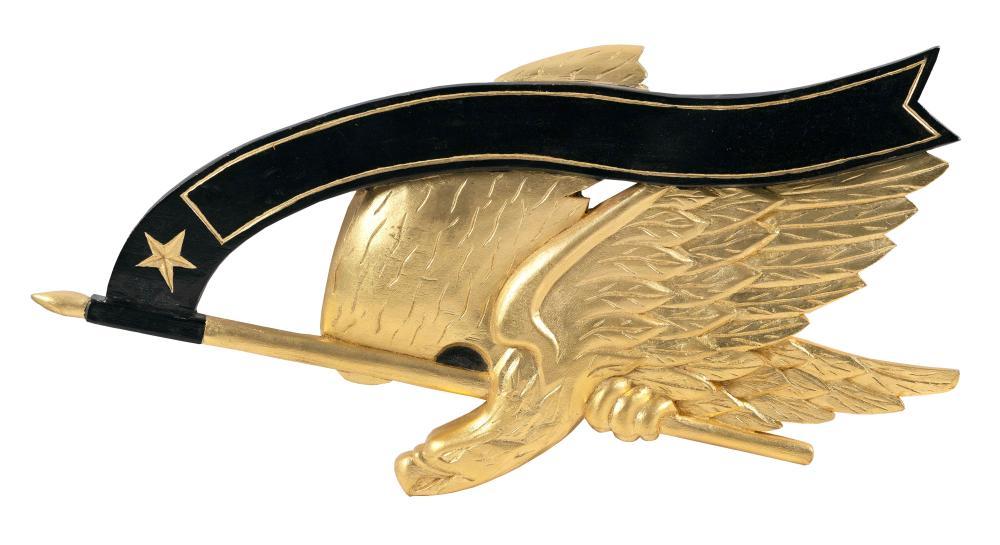 "DAVID LEFORT BELLAMY-STYLE EAGLE PLAQUE Massachusetts, 20th Century Length 22""."