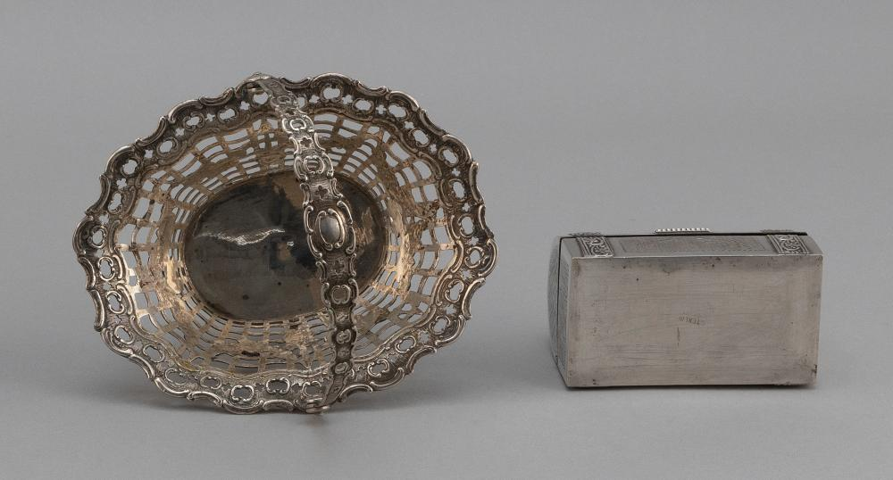 TWO SILVER TABLEWARES Approx. 14.6 total troy oz.