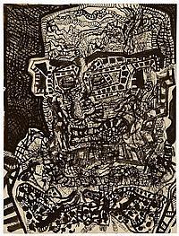 "NICHOLAS GEORGE SPERAKIS, American, b. 1943, Untitled portrait study., Mixed media on paper, 23¾"" x 18"". Unframed."