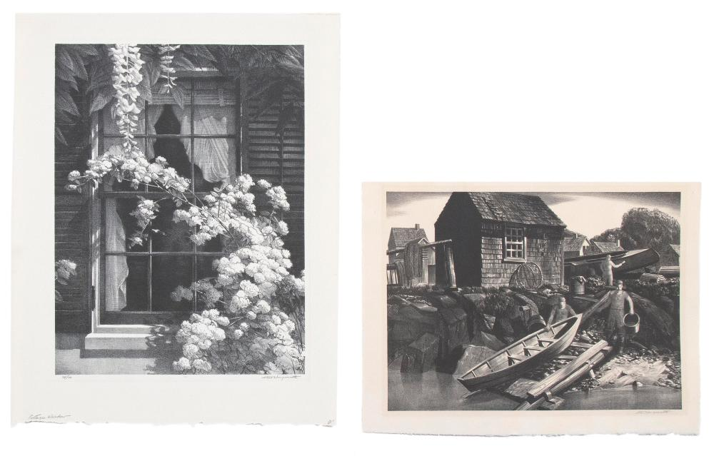 STOW WENGENROTH, New York/Massachusetts, 1906-1978, Two unframed lithographs on paper: