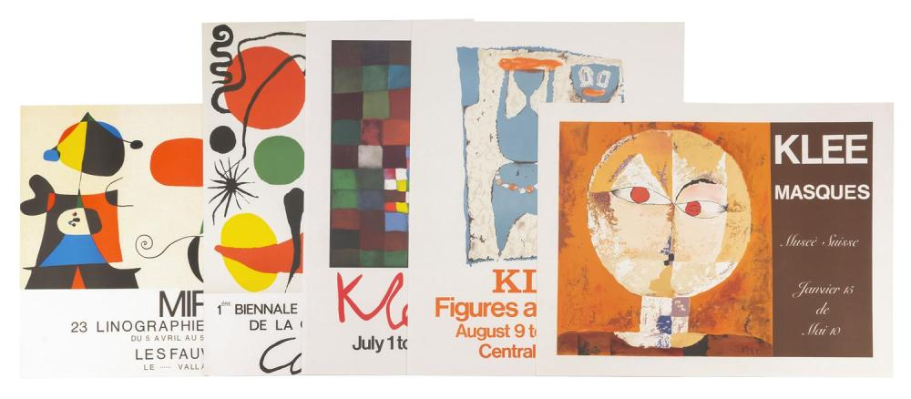 THIRTEEN ART EXHIBIT POSTERS Advertise shows for Matisse, Picasso, Lautrec, Miro, Chagall, Calder, Klee, Musee Suisse, Central Galle...