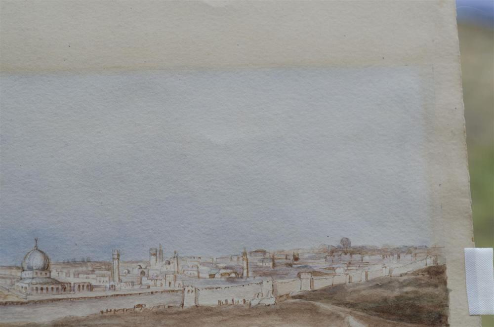LOUIS COMFORT TIFFANY, New York, 1848-1933, View of a North African walled city., Watercolor, 5.75