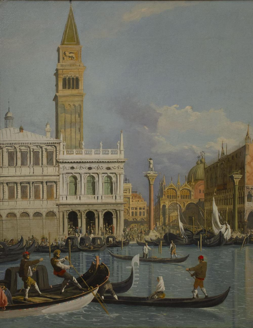 ROBERT SALMON, England/Massachusetts, 1775- c. 1851, Il Molo, Venice, from the Bacino di San Marco., Oil on canvas, 19.75
