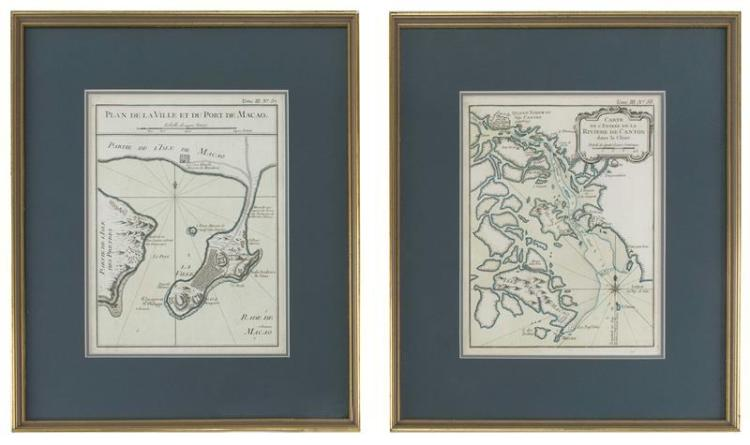 TWO FRAMED MAPS Plate No. 57,