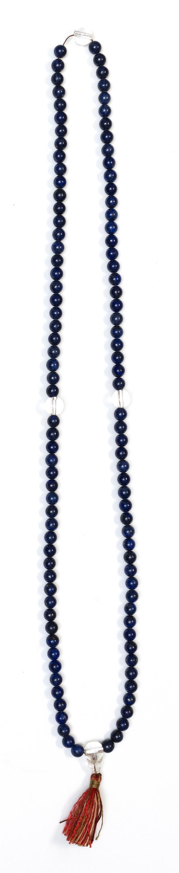LAPIS LAZULI MALA With 7 mm beads. Length 36