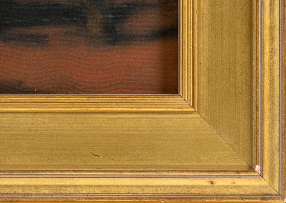 ROBERT CARDINAL, Massachusetts/New York/Canada, b. 1936, New England dusk., Oil on canvas, 12
